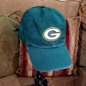 Vintage Green Bay Canvas Slouch Ball Cap